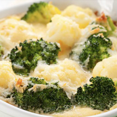 Cauliflower Broccoli Cheese