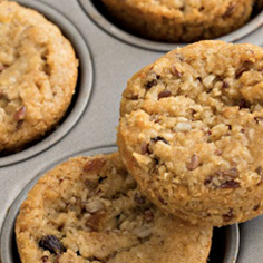 Banana Blueberry Oat Muffins