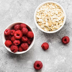 Raspberry Coconut Porridge Fingers